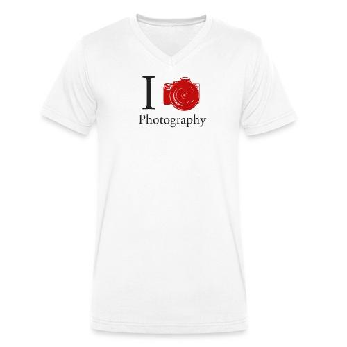 I Love Photography Collection - Männer Bio-T-Shirt mit V-Ausschnitt von Stanley & Stella