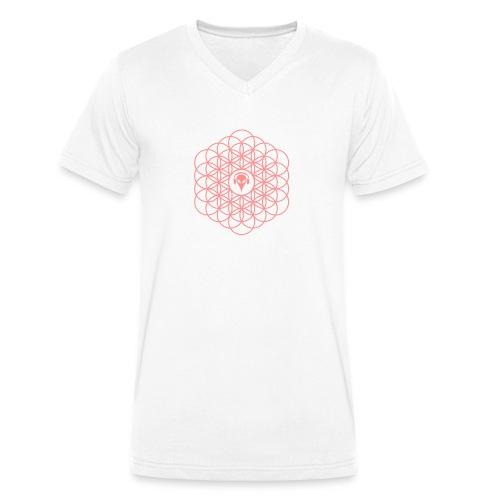 Blume des Lebens Pink - Männer Bio-T-Shirt mit V-Ausschnitt von Stanley & Stella