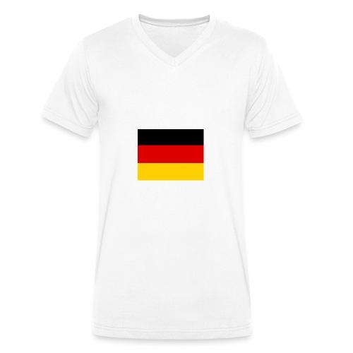 Deutschlandflagge - Männer Bio-T-Shirt mit V-Ausschnitt von Stanley & Stella
