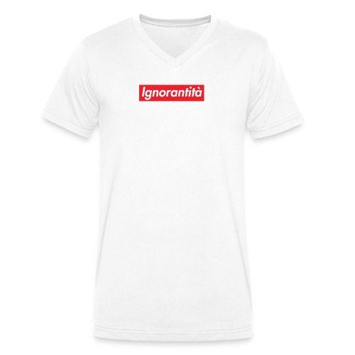 Ignorantità Arena Ignorante - T-shirt ecologica da uomo con scollo a V di Stanley & Stella