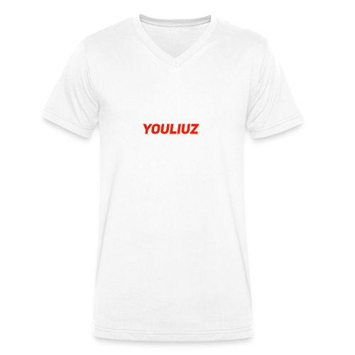 Youliuz merchandise - Mannen bio T-shirt met V-hals van Stanley & Stella