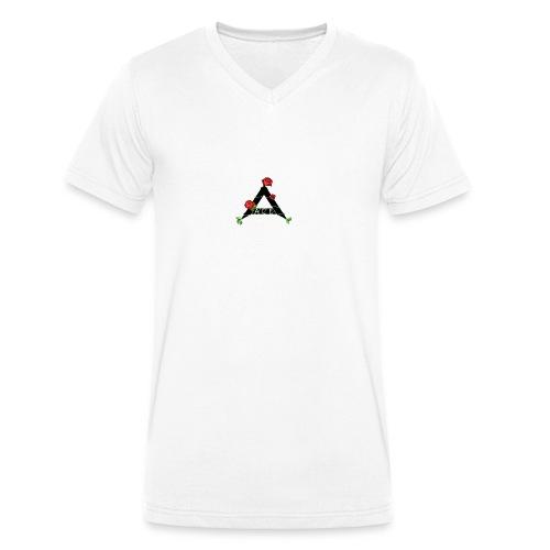 Ace flower - Mannen bio T-shirt met V-hals van Stanley & Stella
