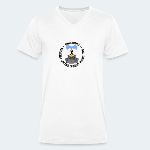 LUG Perugia - T-shirt ecologica da uomo con scollo a V di Stanley & Stella