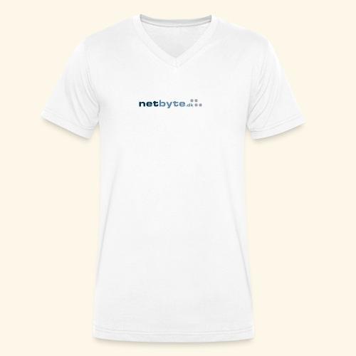 netbyte.dk logo - Økologisk Stanley & Stella T-shirt med V-udskæring til herrer