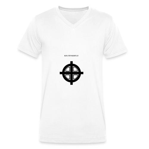 Kelten-kreuz Motiv 1 - Männer Bio-T-Shirt mit V-Ausschnitt von Stanley & Stella