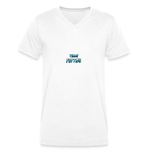 Team futties design - Men's Organic V-Neck T-Shirt by Stanley & Stella