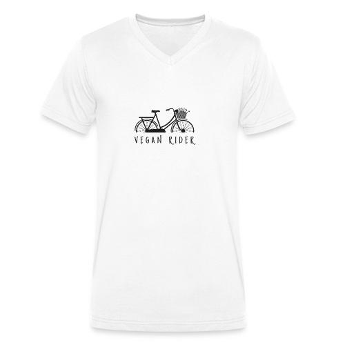 Vegan Rider - Männer Bio-T-Shirt mit V-Ausschnitt von Stanley & Stella