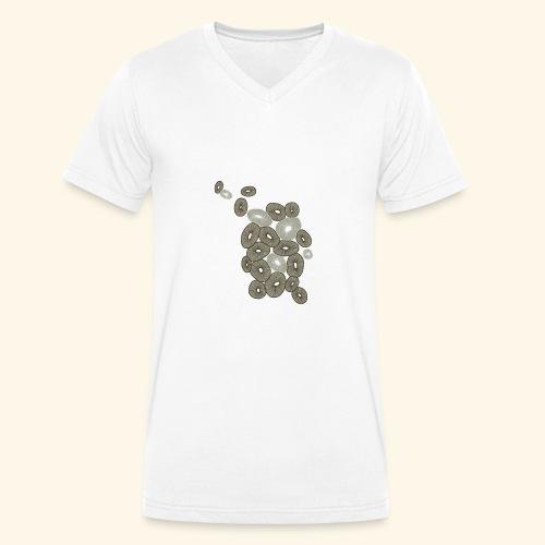 Kreize - Männer Bio-T-Shirt mit V-Ausschnitt von Stanley & Stella