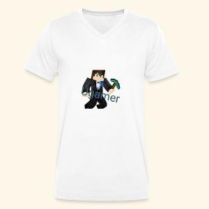 Naam+mc - Mannen bio T-shirt met V-hals van Stanley & Stella