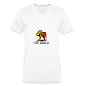 Schützt die Elefanten(-Kinder) - Männer Bio-T-Shirt mit V-Ausschnitt von Stanley & Stella