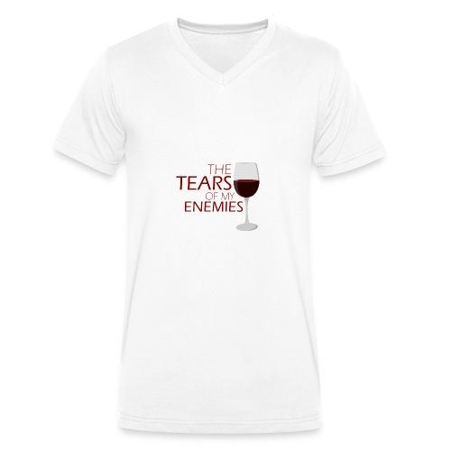 tears of my enemies - Ekologiczna koszulka męska z dekoltem w serek Stanley & Stella
