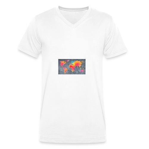 World 3 - Männer Bio-T-Shirt mit V-Ausschnitt von Stanley & Stella