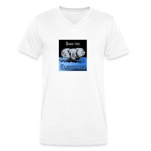 Save The Elephants - Männer Bio-T-Shirt mit V-Ausschnitt von Stanley & Stella