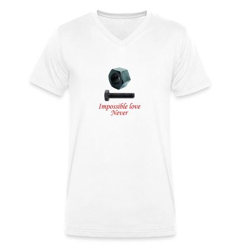 2 Amor imposible nunca - Camiseta ecológica hombre con cuello de pico de Stanley & Stella