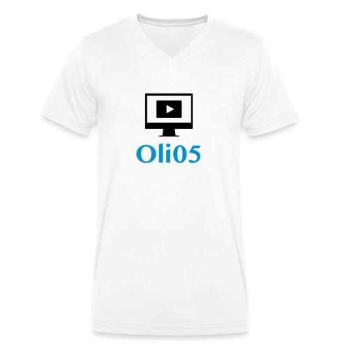 Oli05 Original logo - Økologisk T-skjorte med V-hals for menn fra Stanley & Stella