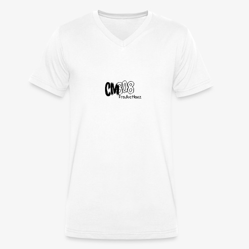 CM808 : Blck on Blck - Mannen bio T-shirt met V-hals van Stanley & Stella