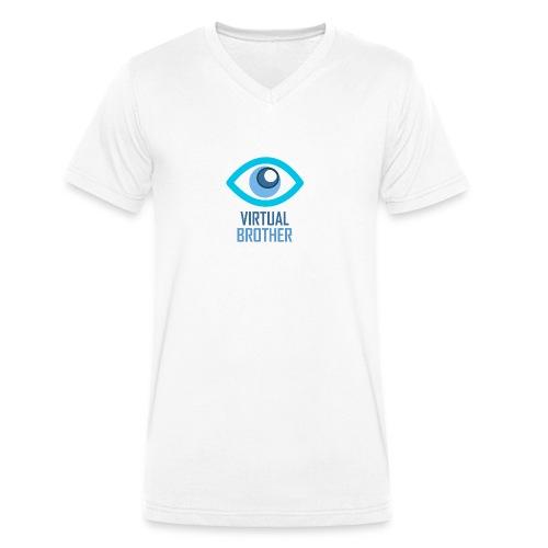 LOGOVIRTUALBROTHER - Camiseta ecológica hombre con cuello de pico de Stanley & Stella