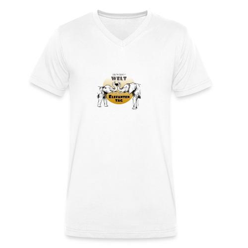 Welt-Elefanten-Tag 2017 - Männer Bio-T-Shirt mit V-Ausschnitt von Stanley & Stella