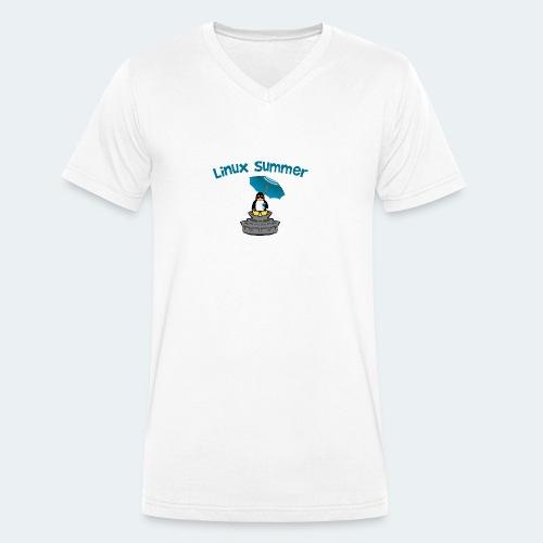 linux summer - T-shirt ecologica da uomo con scollo a V di Stanley & Stella