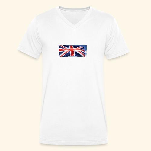 UK flag - Men's Organic V-Neck T-Shirt by Stanley & Stella