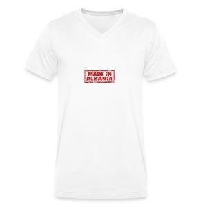 Made in Albania - Männer Bio-T-Shirt mit V-Ausschnitt von Stanley & Stella
