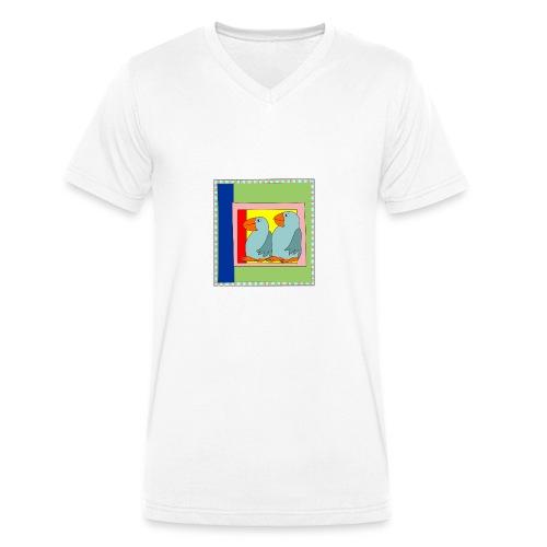 Colorart1 - T-shirt ecologica da uomo con scollo a V di Stanley & Stella