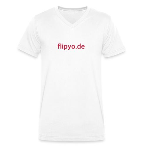 flipyo.de - Männer Bio-T-Shirt mit V-Ausschnitt von Stanley & Stella