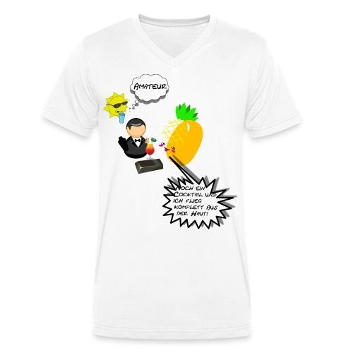 Summer Ananas - Männer Bio-T-Shirt mit V-Ausschnitt von Stanley & Stella