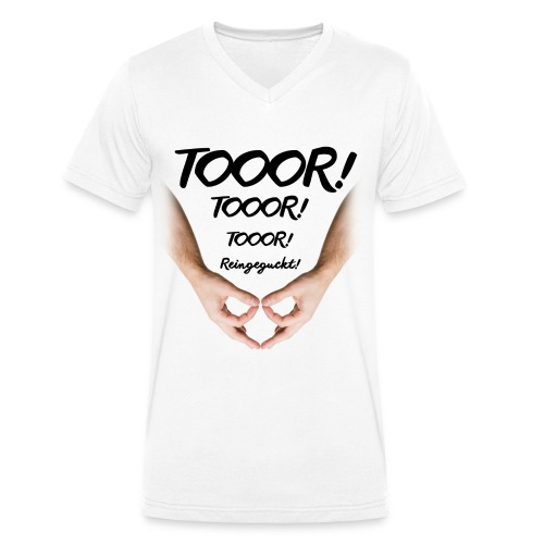 Tor Reingeguckt - Männer Bio-T-Shirt mit V-Ausschnitt von Stanley & Stella