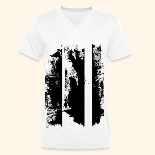 Brush Art - Männer Bio-T-Shirt mit V-Ausschnitt von Stanley & Stella