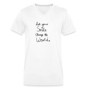 Smile (Let your Smile change the world) - Männer Bio-T-Shirt mit V-Ausschnitt von Stanley & Stella