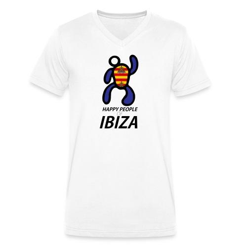 Happy People of Ibiza - Mannen bio T-shirt met V-hals van Stanley & Stella