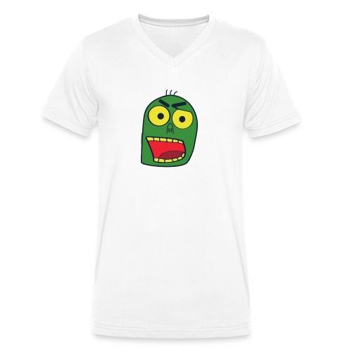 zombiekopf - Männer Bio-T-Shirt mit V-Ausschnitt von Stanley & Stella