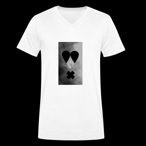 Schwarzweissgrau - Männer Bio-T-Shirt mit V-Ausschnitt von Stanley & Stella