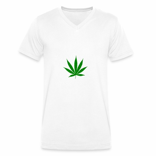 Feuille de weed - T-shirt bio col V Stanley & Stella Homme