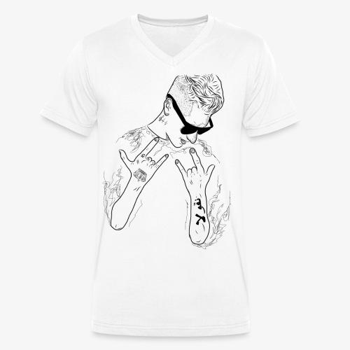 Rappresent Motiv Schwarz - Männer Bio-T-Shirt mit V-Ausschnitt von Stanley & Stella