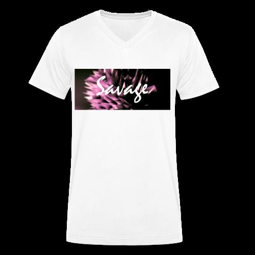 Savage - Men's Organic V-Neck T-Shirt by Stanley & Stella