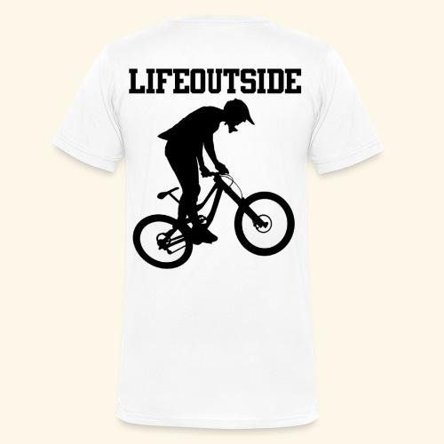 Mountainbike - Männer Bio-T-Shirt mit V-Ausschnitt von Stanley & Stella