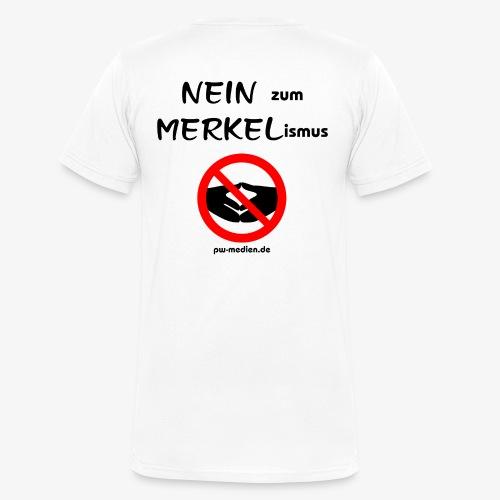 NEIN zum MERKELismus - Männer Bio-T-Shirt mit V-Ausschnitt von Stanley & Stella