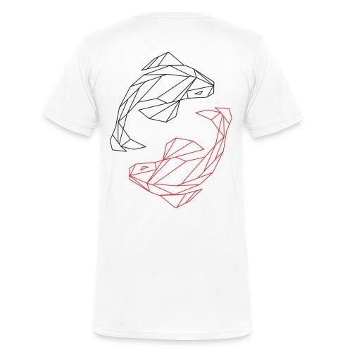 Ying_Yang_Kois - Männer Bio-T-Shirt mit V-Ausschnitt von Stanley & Stella