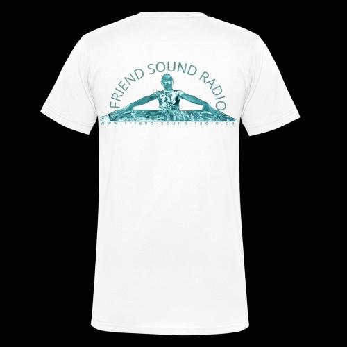 Friend Sound Radio DJ Rücken - Männer Bio-T-Shirt mit V-Ausschnitt von Stanley & Stella
