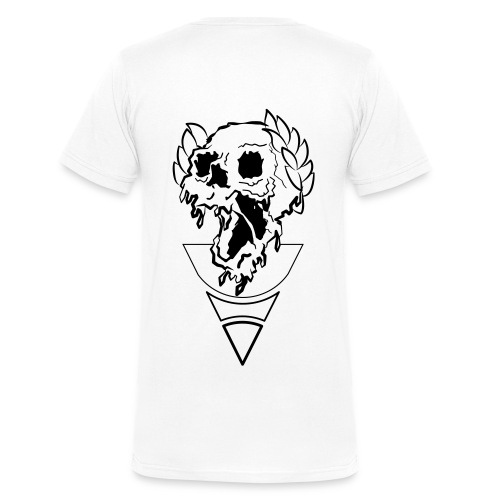 crownded skull - Men's Organic V-Neck T-Shirt by Stanley & Stella