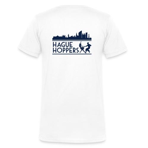 Hague Hoppers logo blue - Mannen bio T-shirt met V-hals van Stanley & Stella