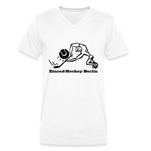 Einradhockey Backhand - Männer Bio-T-Shirt mit V-Ausschnitt von Stanley & Stella