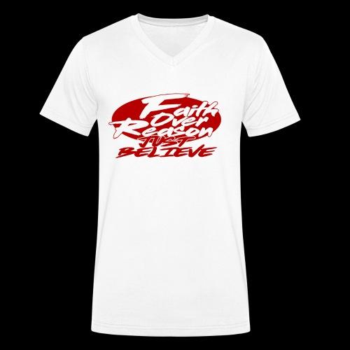 OVER REASON - Camiseta ecológica hombre con cuello de pico de Stanley & Stella