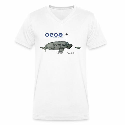 oeoo SeeKuh - Männer Bio-T-Shirt mit V-Ausschnitt von Stanley & Stella