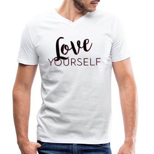 Love Yourself -Schriftzug Pascal Voggenhuber - Männer Bio-T-Shirt mit V-Ausschnitt von Stanley & Stella