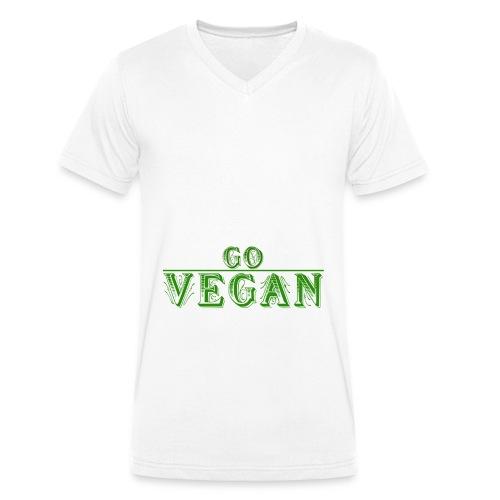 Go Vegan Langarmshirt Herren - Männer Bio-T-Shirt mit V-Ausschnitt von Stanley & Stella