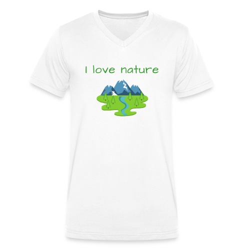 Ich liebe die Natur - Männer Bio-T-Shirt mit V-Ausschnitt von Stanley & Stella