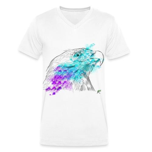 Aquila color - T-shirt ecologica da uomo con scollo a V di Stanley & Stella